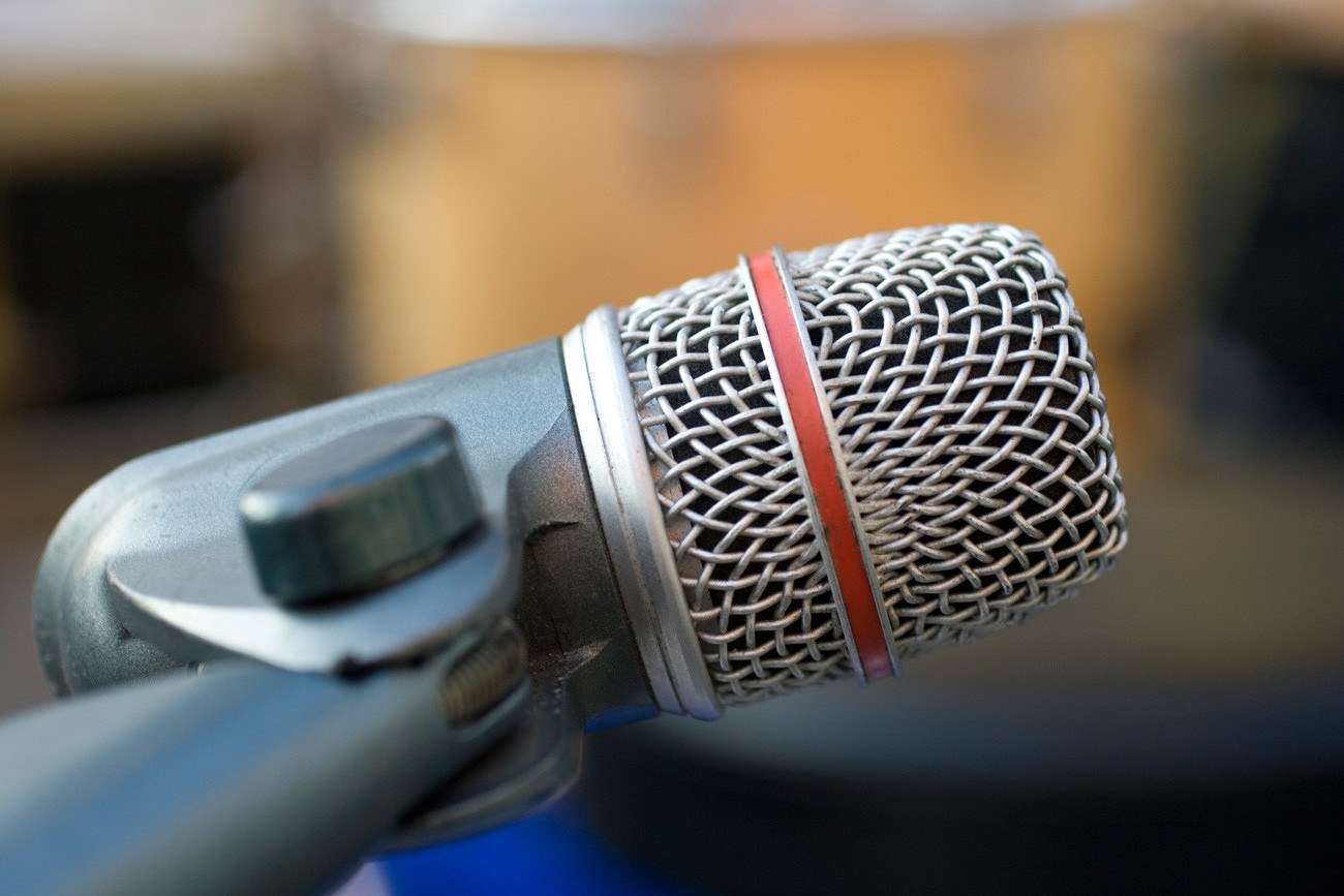 Image of a professional recording microphone.