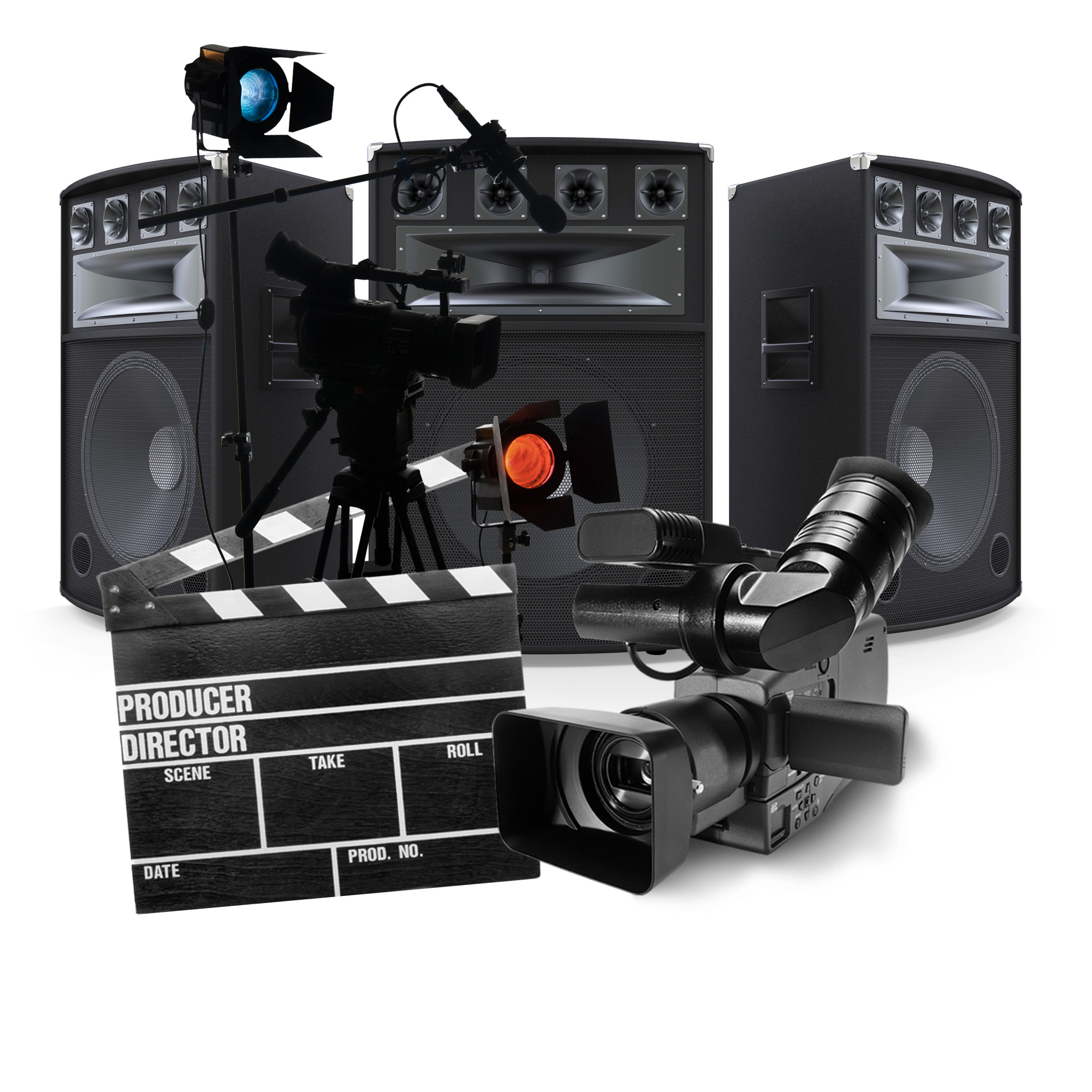 Audio and video production equipment