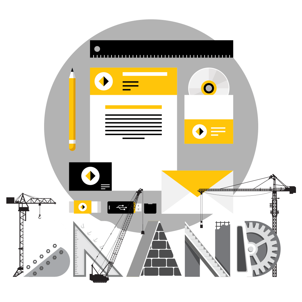 Brand development workflow visualization