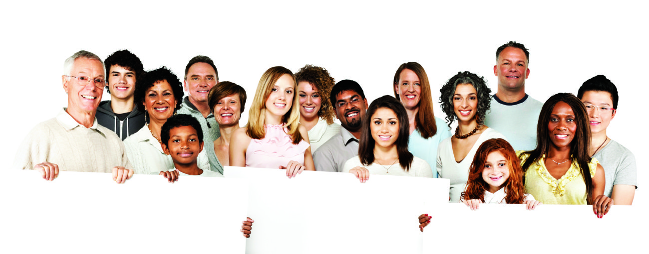 Multicultural talent cast
