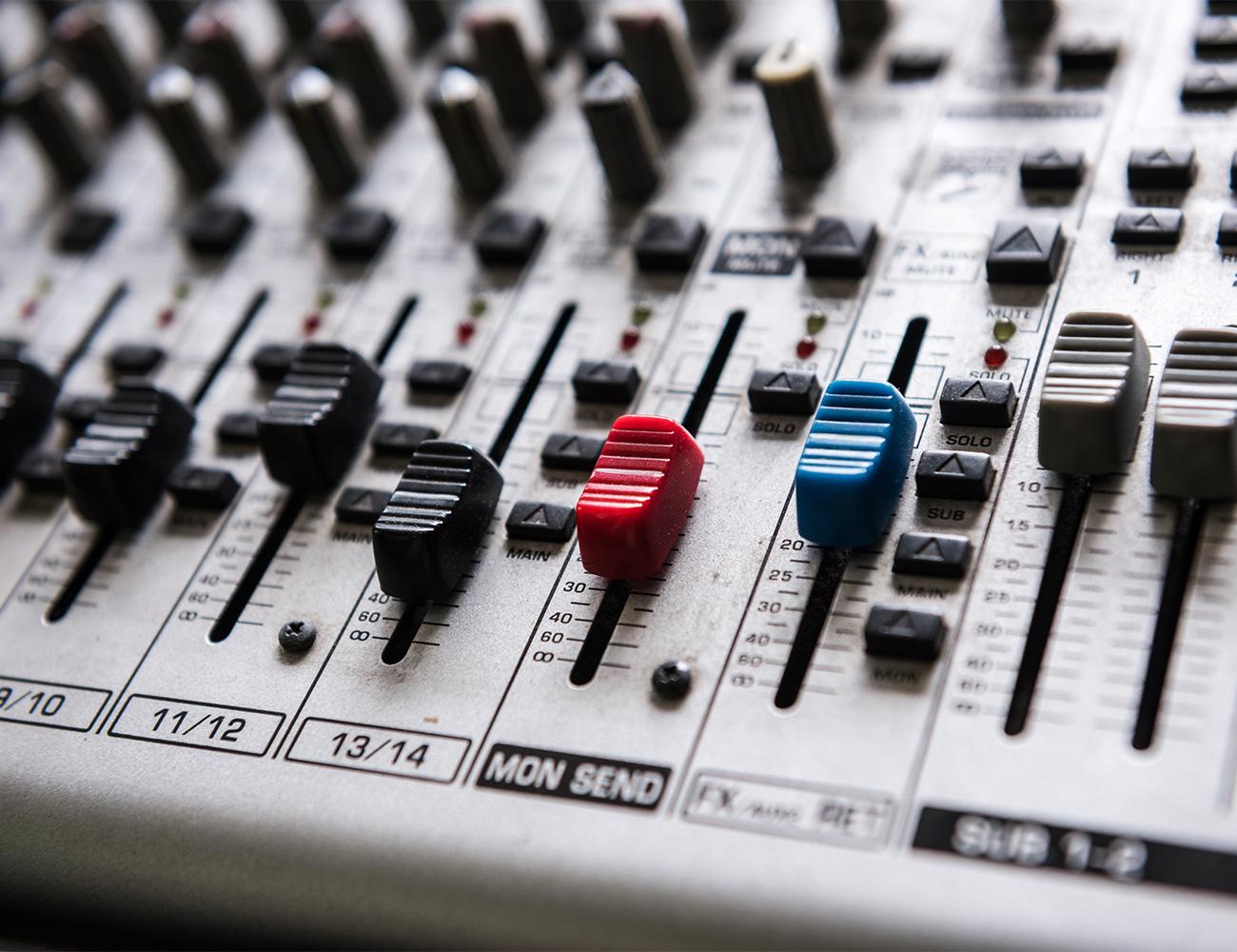 Image of mixer board