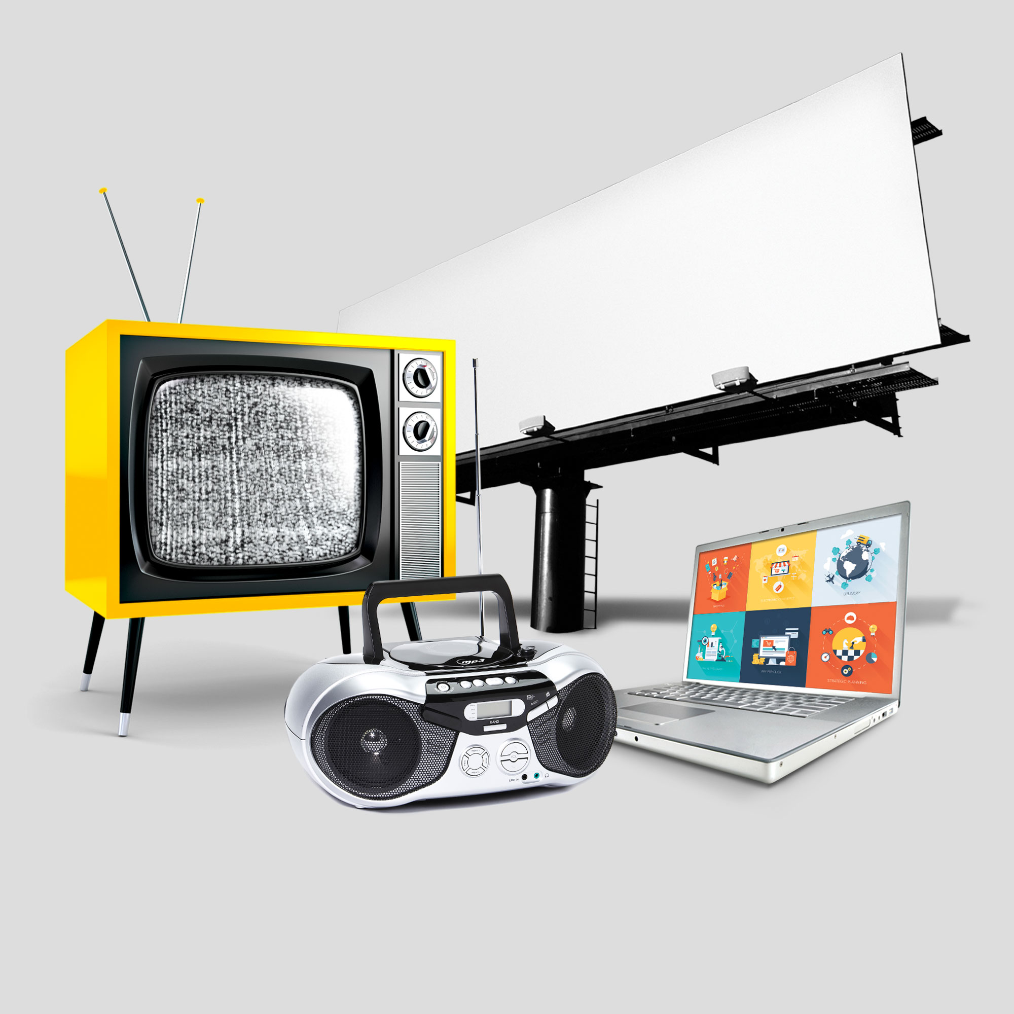Television and other advertising mediums.