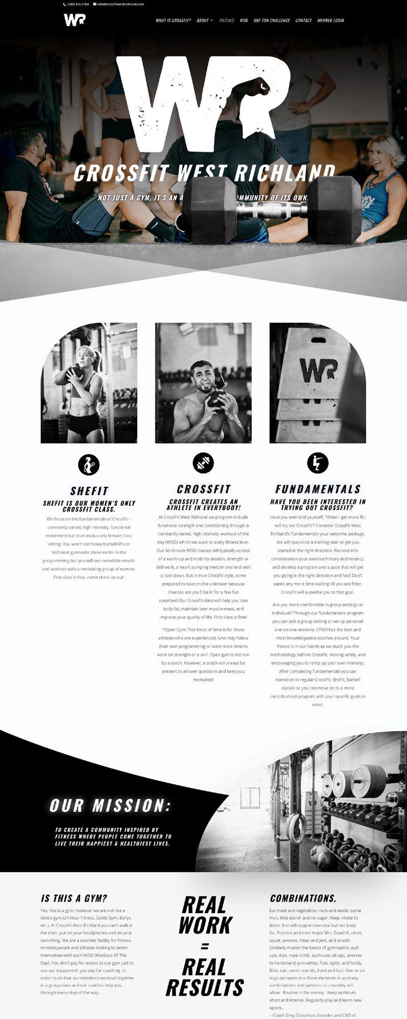 CrossFitWR website - Creative Services