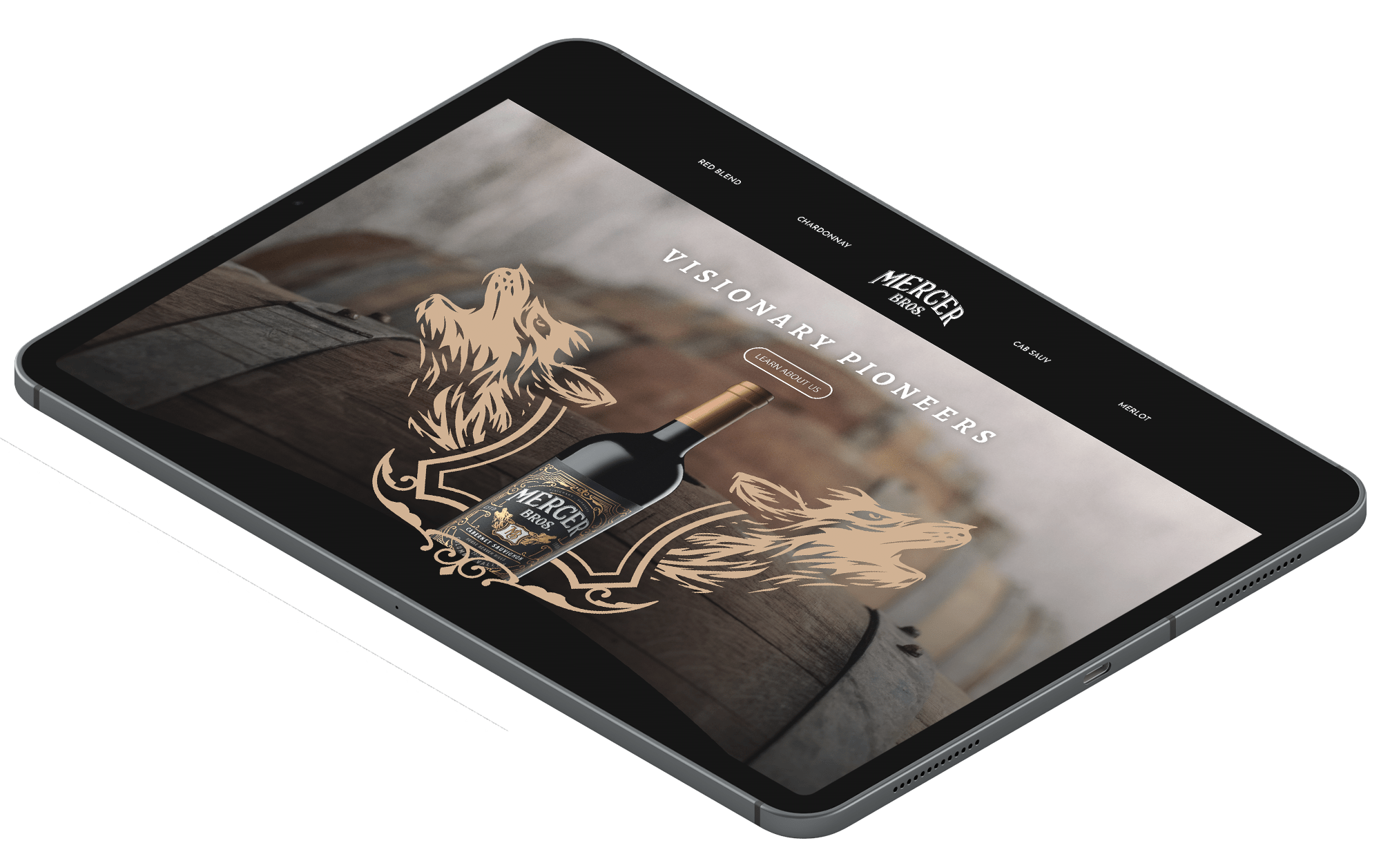 ipad Mockup - Marketing Services
