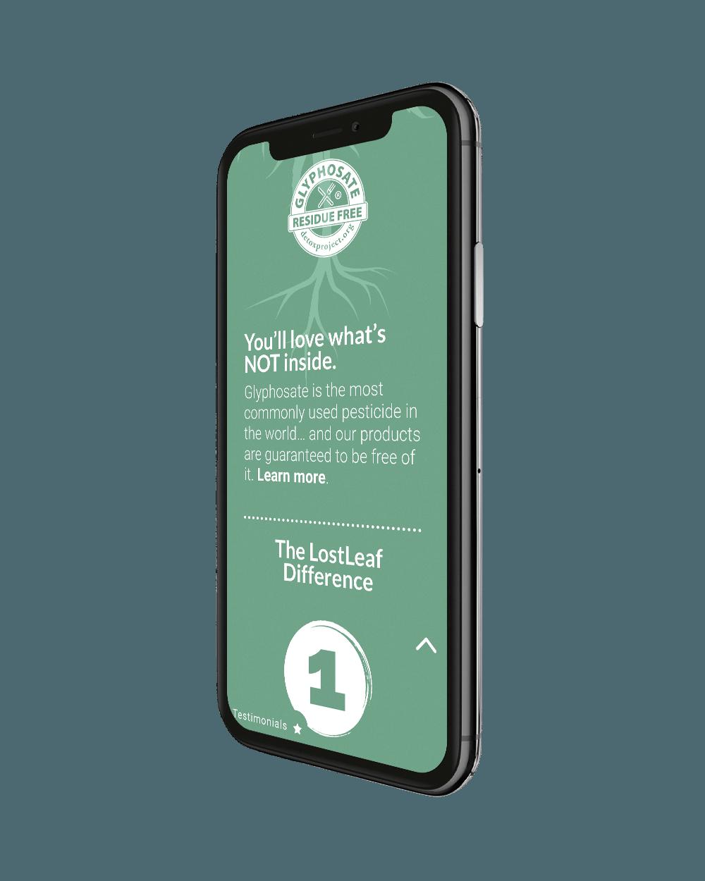 phone left - LostLeaf Naturals