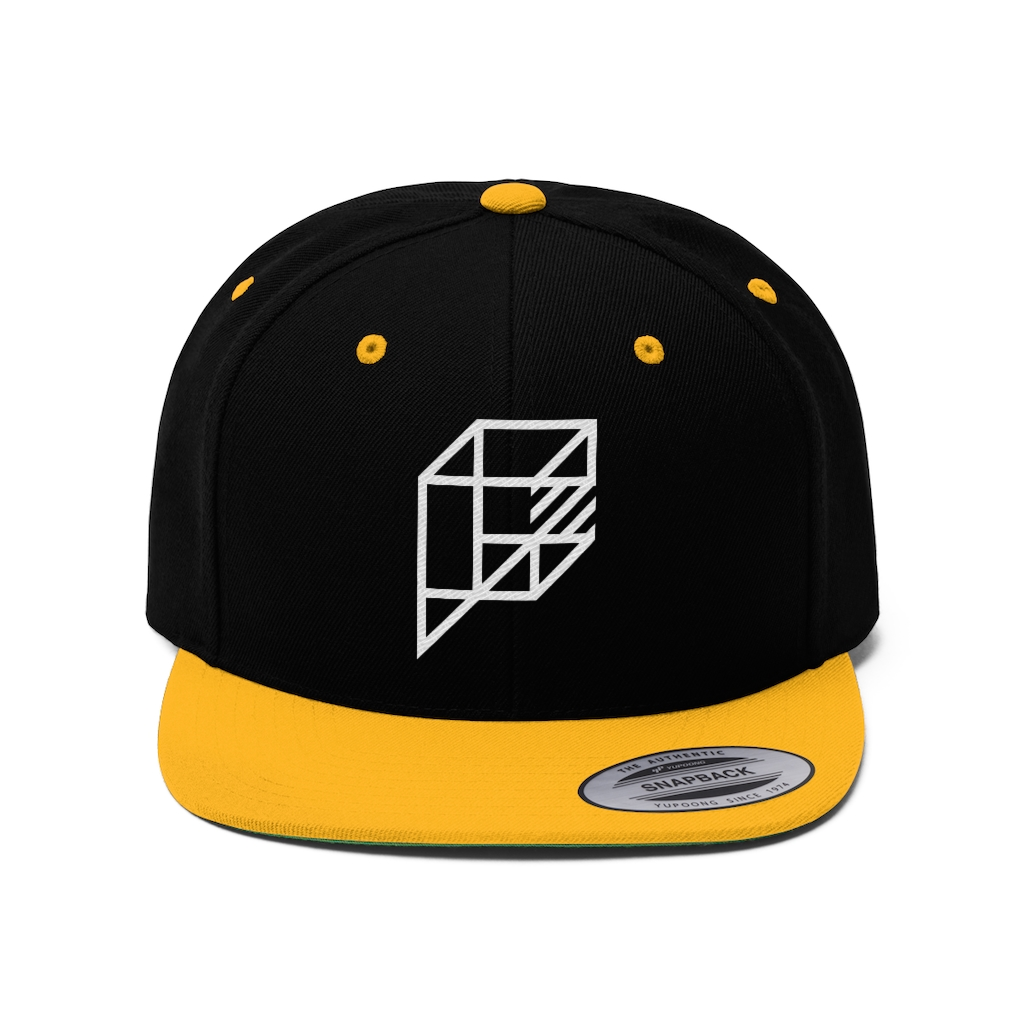image of black and yellow hat