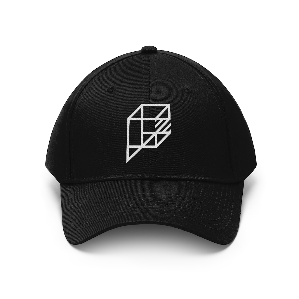 image of black hat with logo