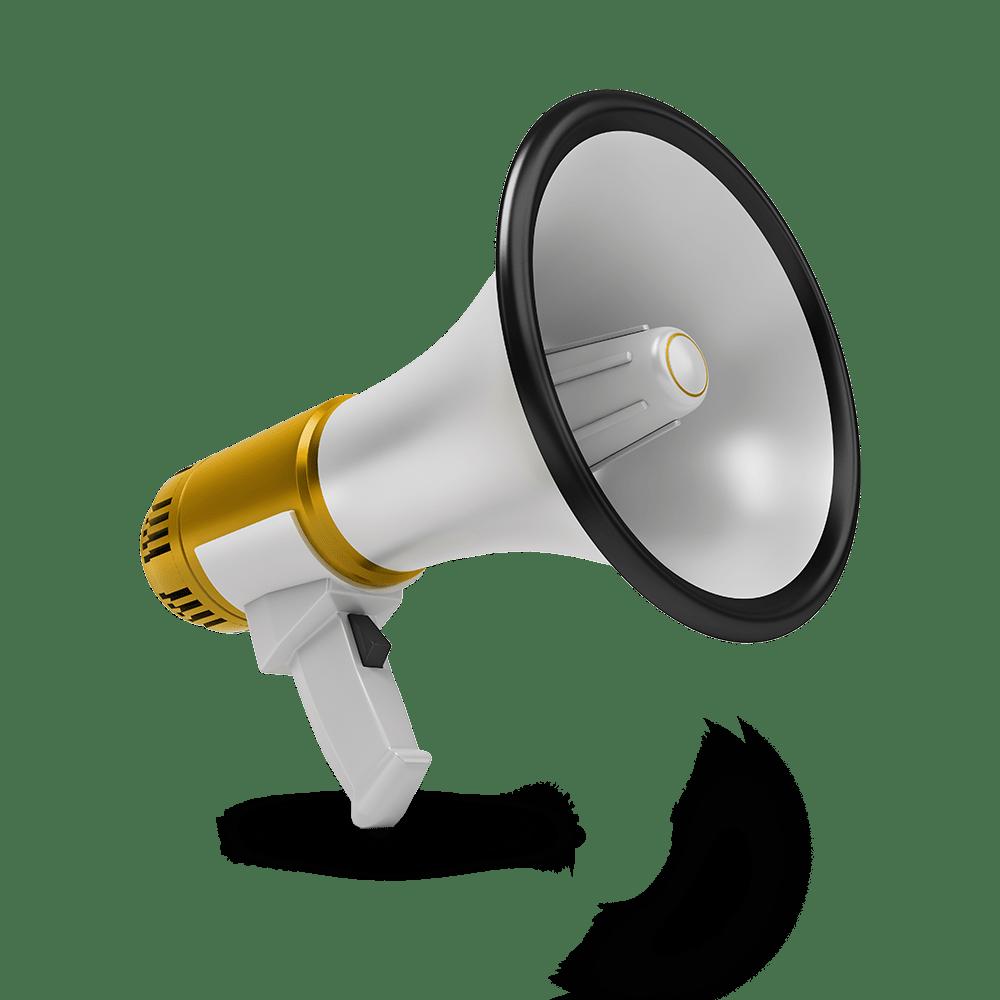 loudspeaker gold - Marketing Services
